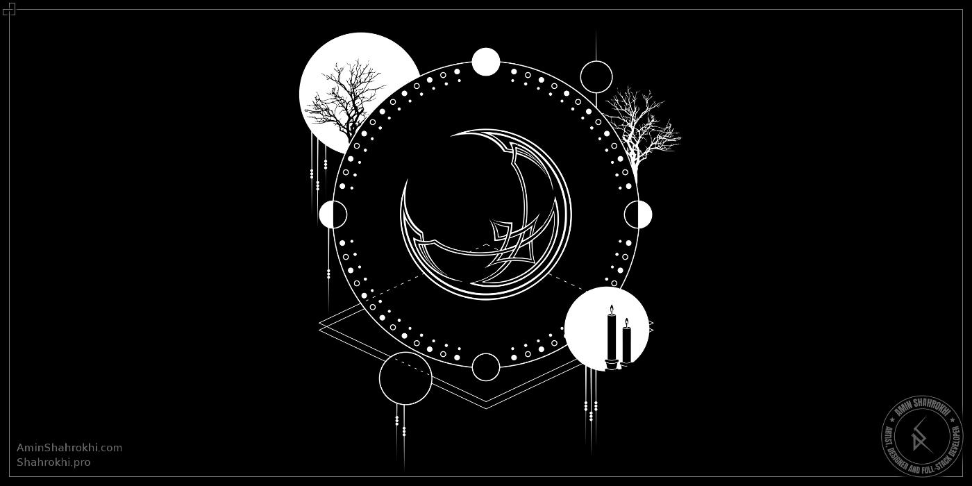 Moon cycle shirt design