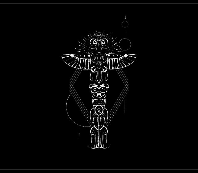 Animal Totem Designed for T-Shirt