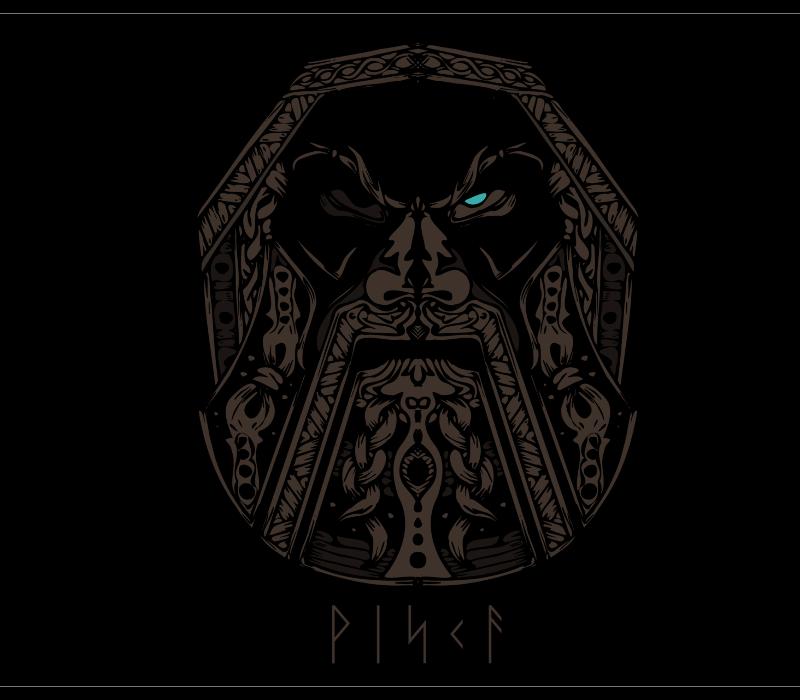 Viking Drawing for T-Shirts