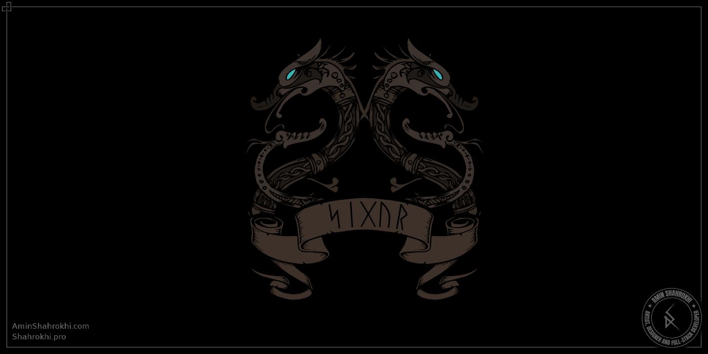 Viking Dragon Design for Shirts