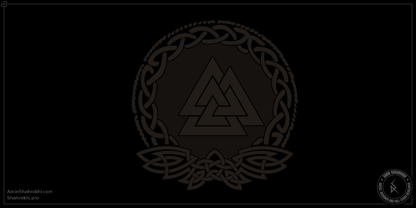 Valknut Drawing for T-Shirts