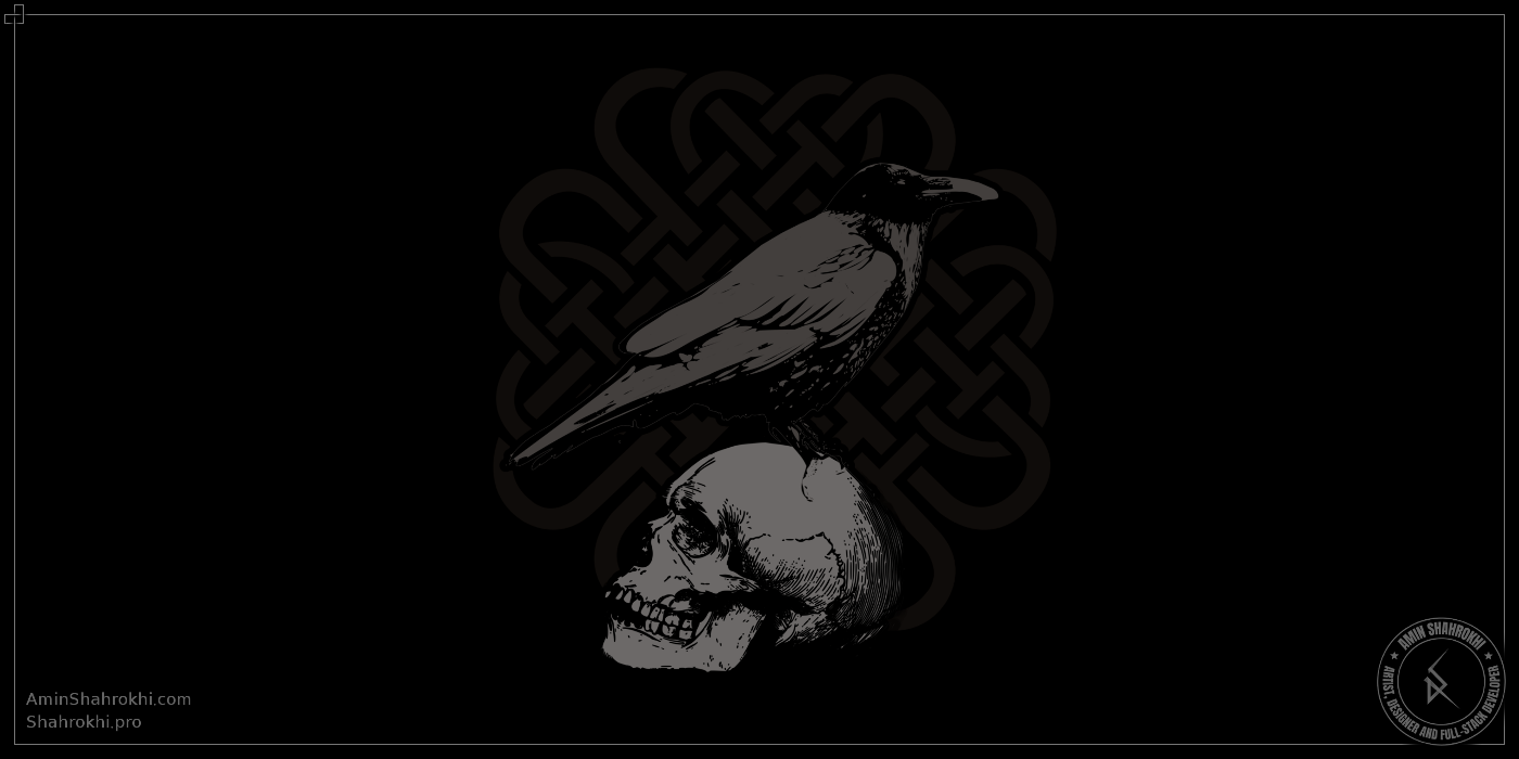 Crow and Skull Shirt Design