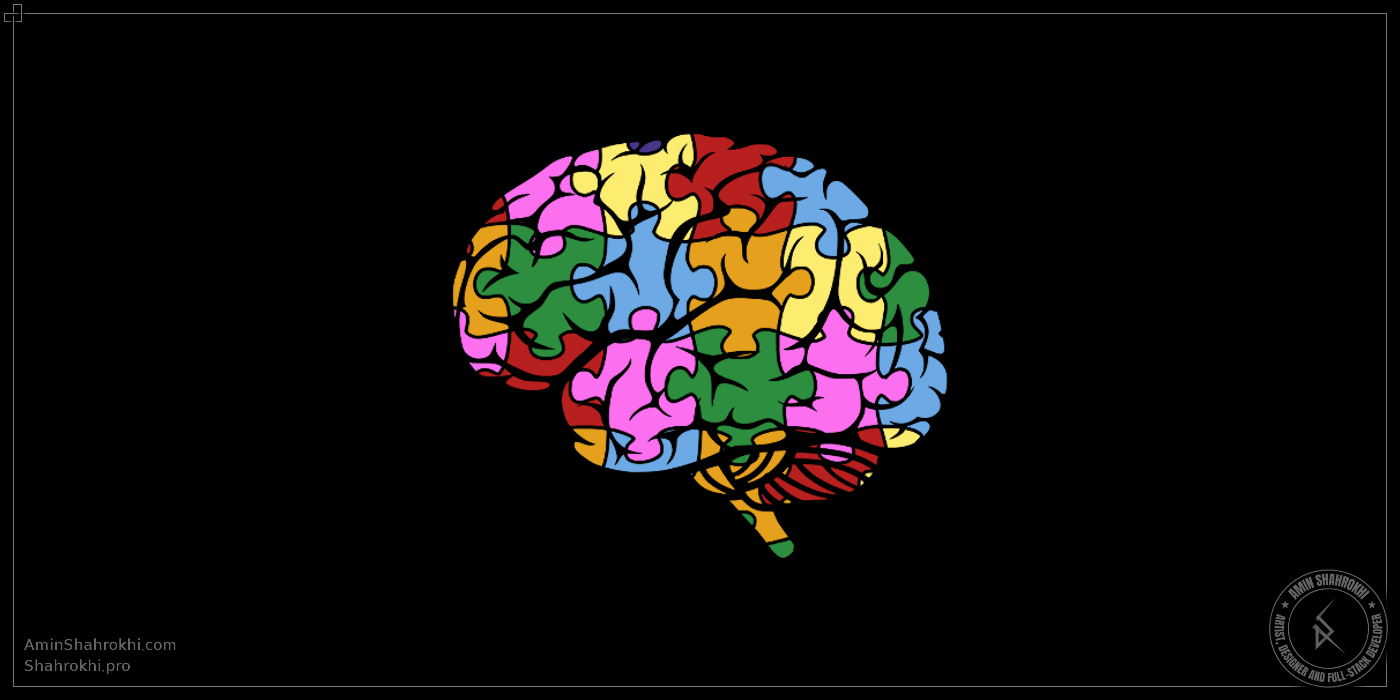 Puzzled brain shirt design