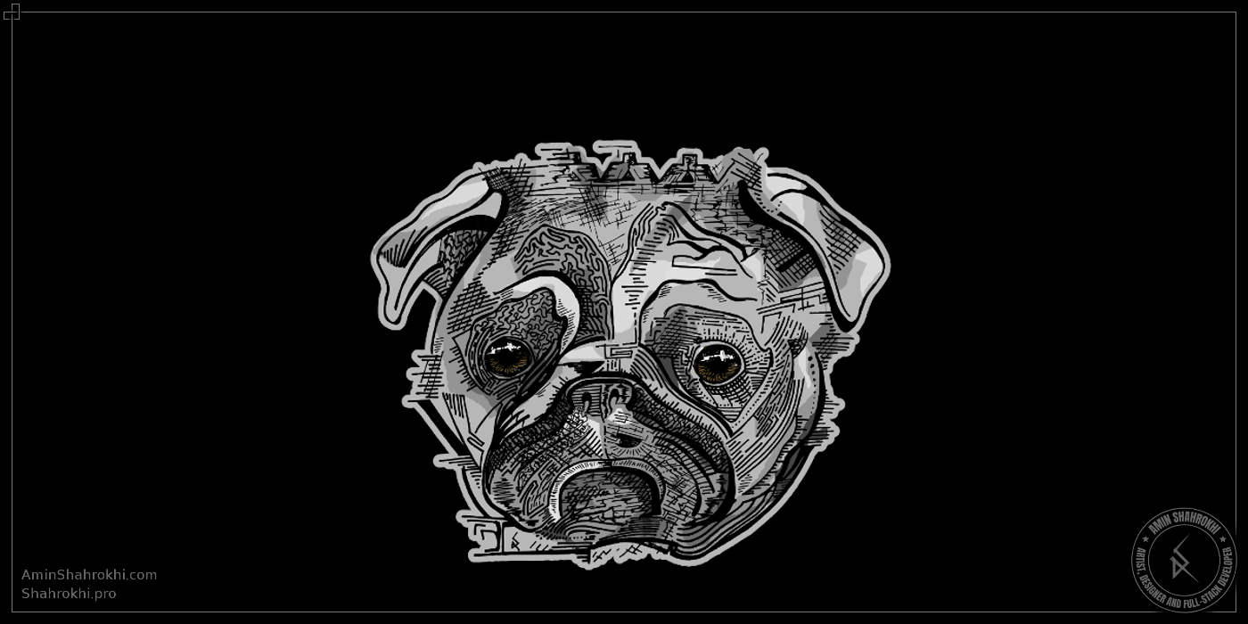 Dog drawing for shirts
