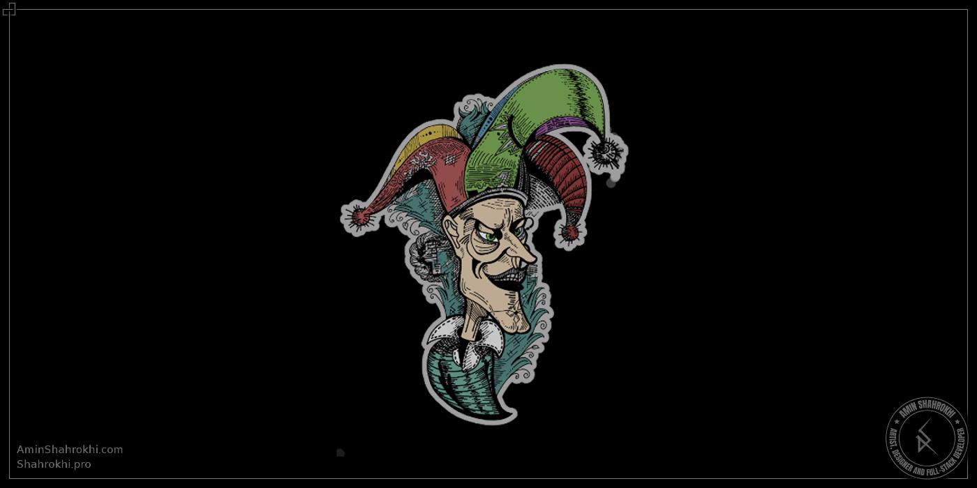 Joker drawing for shirts