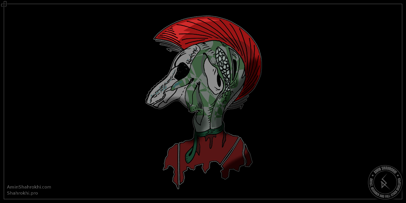 Alien drawing shirt design job