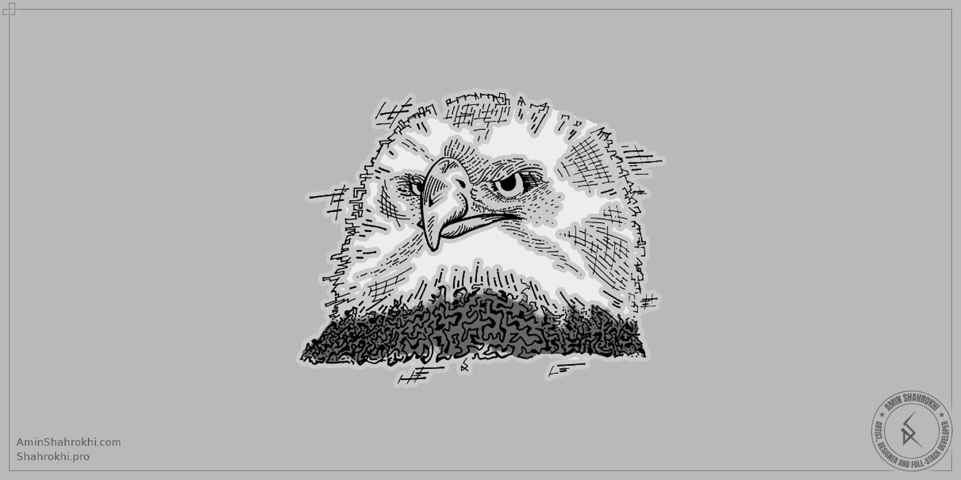 Eagle handmade drawing shirt