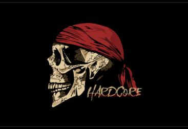 Skull and bandana t-shirt design